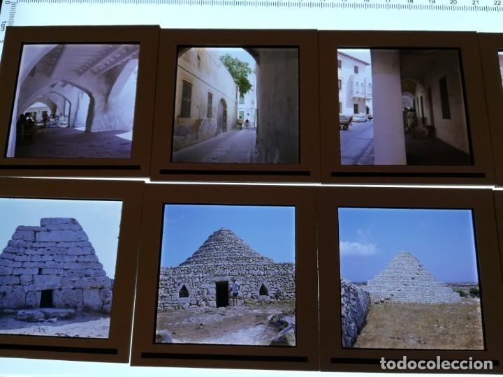 Fotografía antigua: LOTE DE MAS DE 80 DIAPOSITIVAS DE 6X6 MENORCA AñOS 60/70 - Foto 18 - 155202028