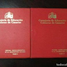 Fotografía antigua: ALBUM CON LOTE SERIE COMPLETA DE DIAPOSITIVAS HISTORIA CRÍTICO DESCRIPTIVA DE ARQUITECTURA CANARIA. Lote 151551722
