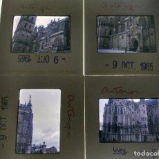 Fotografía antigua: LOTE DE 4 DIAPOSITIVAS DE ASTORGA (LEON) AÑO 1965, VER FOTOS ADICIONALES. Lote 155396746