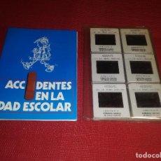 Fotografía antigua: ACCIDENTES EN LA EDAD ESCOLAR - AÑOS 80 - 24 DIAPOSITIVAS - MINISTERIO DE SANIDAD Y CONSUMO. Lote 156769834