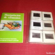 Fotografía antigua: MANIPULACION DE ALIMENTOS - AÑOS 80 - 45 DIAPOSITIVAS - MINISTERIO DE SANIDAD Y CONSUMO. Lote 156770122