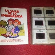 Fotografía antigua: LA SALUD DE LA EMBARAZADA - AÑOS 80 - 47 DIAPOSITIVAS - MINISTERIO DE SANIDAD Y CONSUMO. Lote 156773278