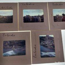 Fotografía antigua: 5 DIAPOSITIVAS AÑOS 60 TOLEDO. Lote 158150278