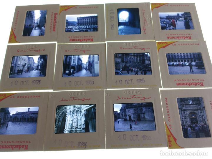 20 DIAPOSITIVAS AÑOS 60 SANTIAGO DE COMPOSTELA, CORUÑA. VER FOTOS (Fotografía Antigua - Diapositivas)