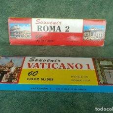 Fotografía antigua: 120 DIAPOSITIVAS KODAK COLOR - ROMA 2 - VATICANO 1 - EN ESTUCHE - SOUVENIR ITALIA . Lote 164810602