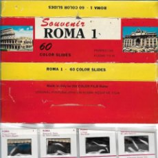 Fotografía antigua: ROMA 1 60 DIAPOSITIVAS COLOR ORIGINALES DE KODAK FILM. Lote 171160715