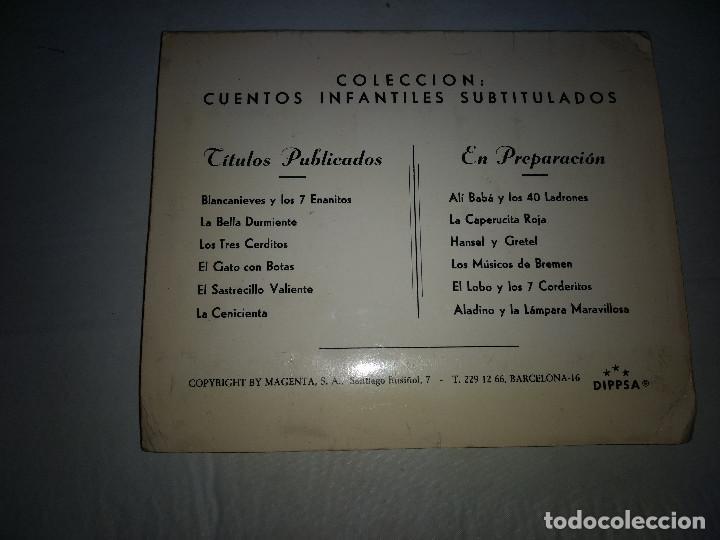 Fotografía antigua: EL GATO CON BOTAS - Cuento Años 60 en 24 Diapositivas a color con texto - DIPPSA y KODAK - Foto 3 - 171714699