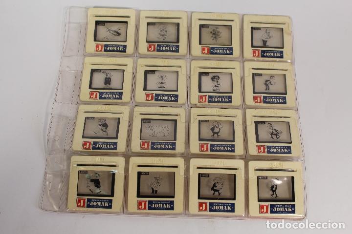 DIAPOSITIVAS DE SISTEMA DE DIBUJO JOMAK. CONTIENE 16 DIAPOSITIVAS. (Fotografía Antigua - Diapositivas)