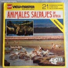 Fotografía antigua: VIEW MASTER ANIMALES SALVAJES DE ÁFRICA. Lote 175267374
