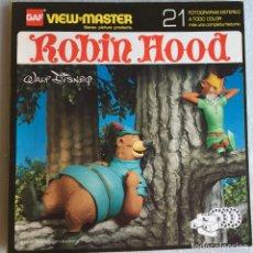 Fotografía antigua: VIEW MASTER ANIMALES ROBIN HOOD. Lote 175267398