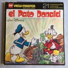 Fotografía antigua: VIEW MASTER ANIMALES EL PATO DONALD. Lote 175267440