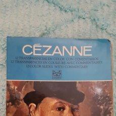 Fotografía antigua: EL MUNDO DE LOS PINTORES - 12 DIAPOSITIVAS A COLOR - CEZANNE - EDITORIAL CODEX. Lote 177080909