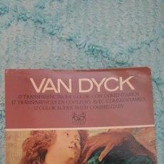 Fotografía antigua: EL MUNDO DE LOS PINTORES - 12 DIAPOSITIVAS A COLOR - VAN DYCK - EDITORIAL CODEX. Lote 177081449