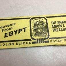 Fotografía antigua: SOUVENIR FROM EGYPT - 12 COLOR SLIDES - KODAK FILM. Lote 178019848
