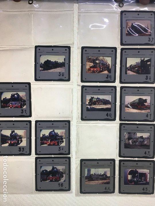 LOTE 13 DE DIAPOSITIVAS DE FERROCARRILES ESPAÑOLES. MÁQUINAS A VAPOR UTILIZADAS EN ESPAÑA. (Fotografía Antigua - Diapositivas)