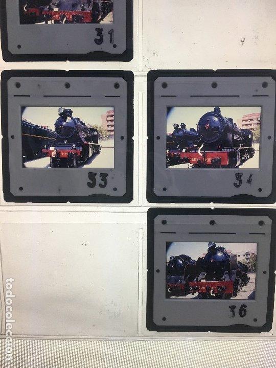 Fotografía antigua: Lote 13 de diapositivas de ferrocarriles españoles. máquinas a vapor utilizadas en España. - Foto 2 - 178124654