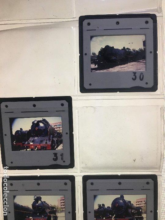 Fotografía antigua: Lote 13 de diapositivas de ferrocarriles españoles. máquinas a vapor utilizadas en España. - Foto 3 - 178124654