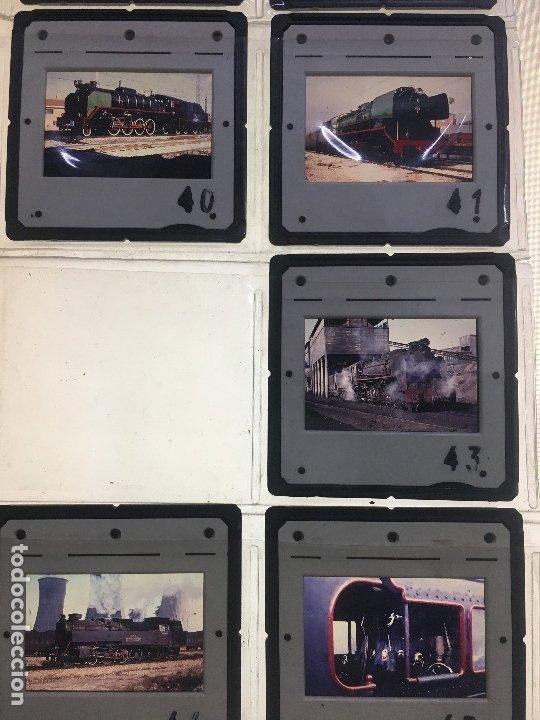Fotografía antigua: Lote 13 de diapositivas de ferrocarriles españoles. máquinas a vapor utilizadas en España. - Foto 5 - 178124654