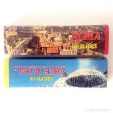 Fotografía antigua: DIAPOSITIVAS ROMA (ITALIA) Y VATICANO - 60+60 DIAPOSITIVAS SOUVENIR - AÑOS 70. Lote 179099177