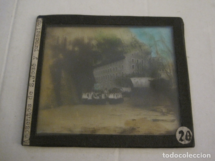 Fotografía antigua: MONTSERRAT-APOSENTOS S.JOSE Y PROCESION-FOTOGRAFIA DIAPOSITIVA CRISTAL COLOREADA-VER FOTOS(V-17.763) - Foto 2 - 179534783