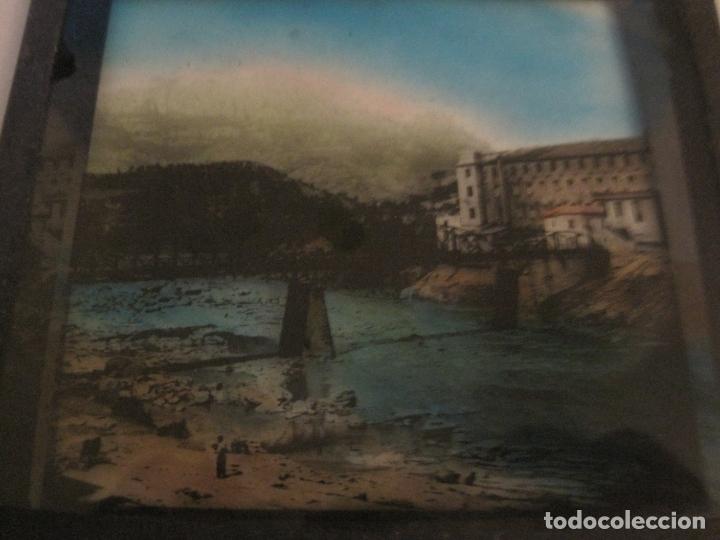 Fotografía antigua: MONTSERRAT-PUENTE DE MONISTROL-FOTOGRAFIA DIAPOSITIVA CRISTAL COLOREADA-VER FOTOS(V-17.767) - Foto 5 - 179536142