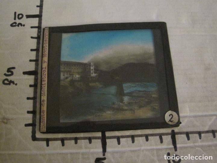 Fotografía antigua: MONTSERRAT-PUENTE DE MONISTROL-FOTOGRAFIA DIAPOSITIVA CRISTAL COLOREADA-VER FOTOS(V-17.767) - Foto 6 - 179536142