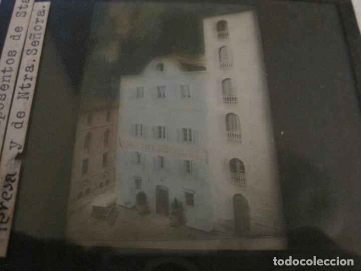 Fotografía antigua: MONTSERRAT-RESTAURANT-FOTOGRAFIA DIAPOSITIVA CRISTAL COLOREADA-VER FOTOS(V-17.775) - Foto 4 - 179536707
