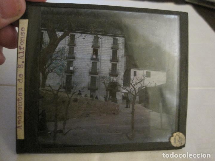Fotografía antigua: MONTSERRAT-APOSENTOS S.ALFONSO-FOTOGRAFIA DIAPOSITIVA CRISTAL COLOREADA-VER FOTOS(V-17.771) - Foto 2 - 179537192