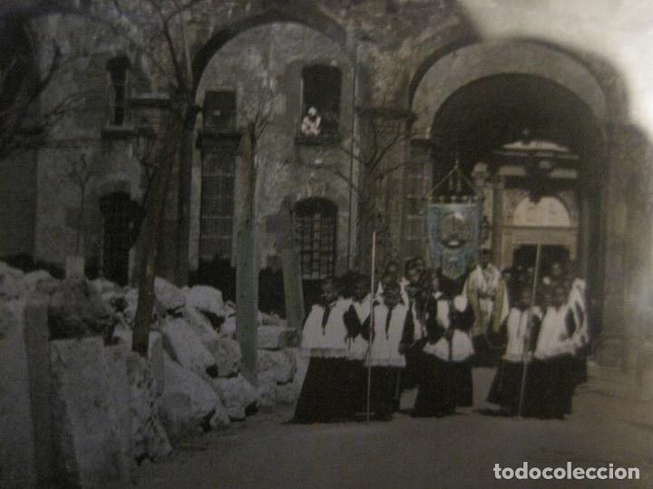 Fotografía antigua: MONTSERRAT-PROCESION-FOTOGRAFIA DIAPOSITIVA CRISTAL COLOREADA-VER FOTOS(V-17.770) - Foto 3 - 179537245