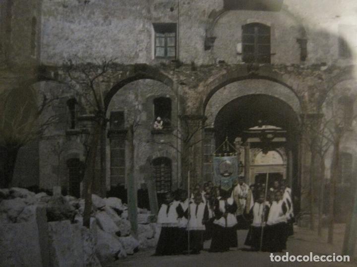 Fotografía antigua: MONTSERRAT-PROCESION-FOTOGRAFIA DIAPOSITIVA CRISTAL COLOREADA-VER FOTOS(V-17.770) - Foto 4 - 179537245