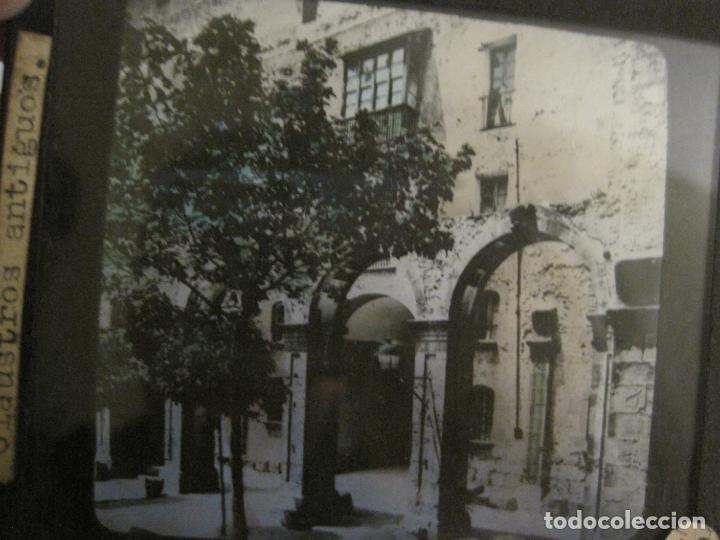 Fotografía antigua: MONTSERRAT-CLAUSTROS ANTIGUOS-FOTOGRAFIA DIAPOSITIVA CRISTAL COLOREADA-VER FOTOS(V-17.769) - Foto 2 - 179537360