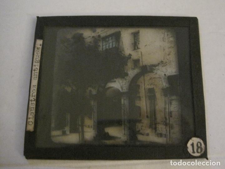 Fotografía antigua: MONTSERRAT-CLAUSTROS ANTIGUOS-FOTOGRAFIA DIAPOSITIVA CRISTAL COLOREADA-VER FOTOS(V-17.769) - Foto 3 - 179537360