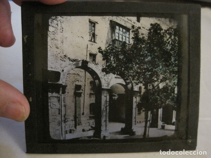 Fotografía antigua: MONTSERRAT-CLAUSTROS ANTIGUOS-FOTOGRAFIA DIAPOSITIVA CRISTAL COLOREADA-VER FOTOS(V-17.769) - Foto 6 - 179537360