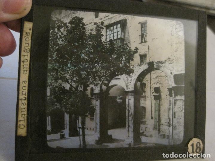MONTSERRAT-CLAUSTROS ANTIGUOS-FOTOGRAFIA DIAPOSITIVA CRISTAL COLOREADA-VER FOTOS(V-17.769) (Fotografía Antigua - Diapositivas)