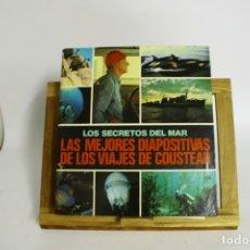 Fotografía antigua: LIBRO DE DIAPOSITIVAS DE LOS VIAJES Y EXPEDICIONES DE JACK COUSTEAU.. Lote 180407700