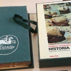 Fotografía antigua: HISTORIA DE ESPAÑA CON 200 DIAPOSITIVAS TERESA URIBURU, AGUILAR. Lote 180472830