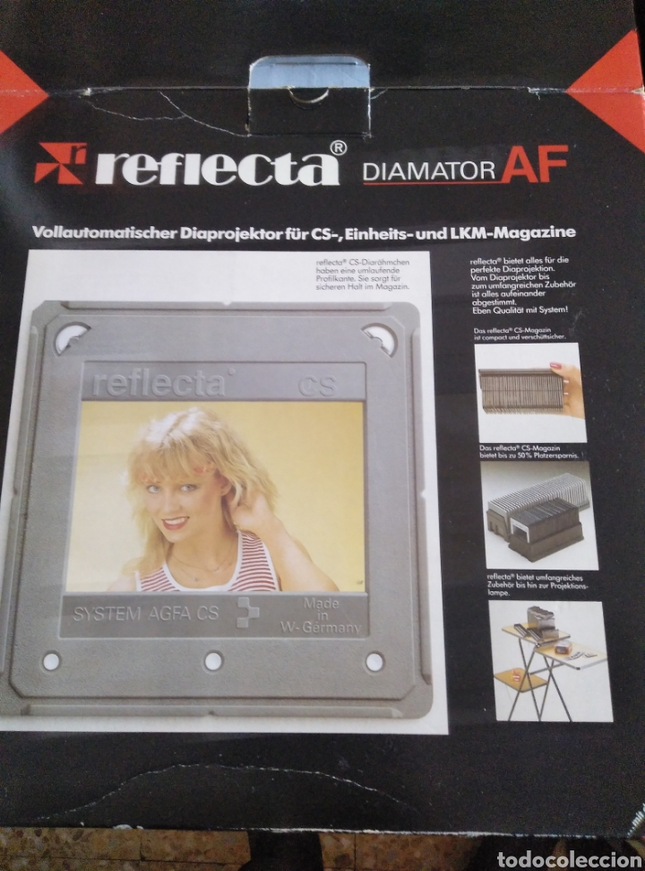 Fotografía antigua: Proyector diapositivas Reflecta Diamantor AF sin uso con embalaje original. Funciona perfectamente - Foto 5 - 180937003