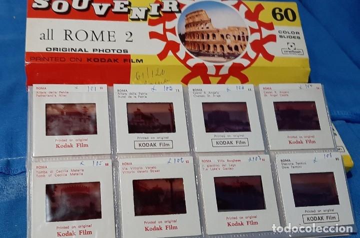 Fotografía antigua: DIAPOSITIVAS ROMA SOUVENIR 2 VOLUMENES......COLECCION ANTIGUA DE 120 DIAPOSITIVAS.. - Foto 2 - 181626336
