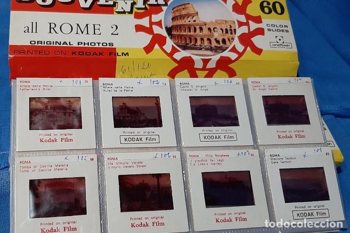 Fotografía antigua: DIAPOSITIVAS ROMA SOUVENIR 2 VOLUMENES......COLECCION ANTIGUA DE 120 DIAPOSITIVAS.. - Foto 3 - 181626336