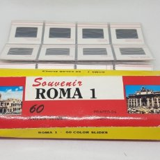 Fotografía antigua: 60 DIAPOSITIVAS - ROMA - CAR165. Lote 182739902