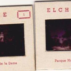 Fotografía antigua: ELCHE Y ALICANTE. 4 DIAPOSITIVAS. Lote 183513118