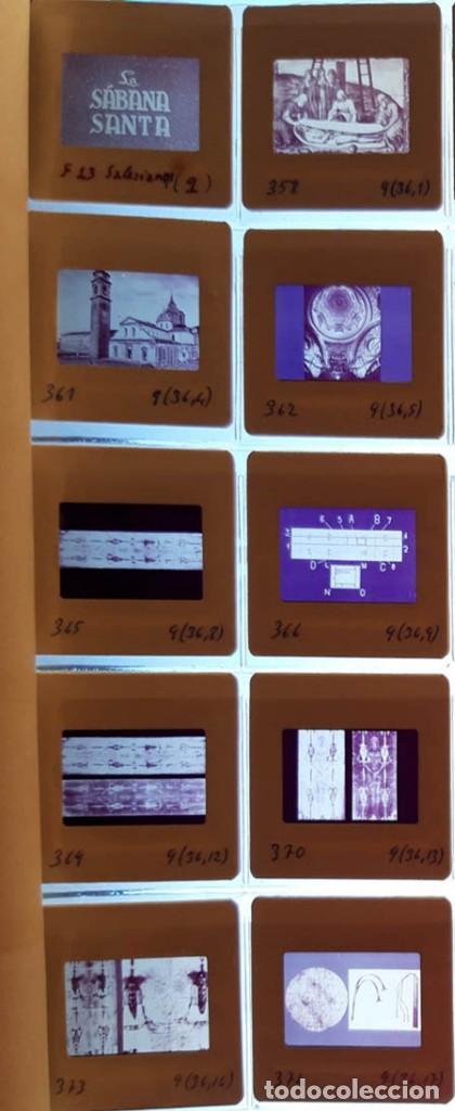 Fotografía antigua: 37 diapositivas de la Sábana Santa, años 60 - Foto 4 - 188484267