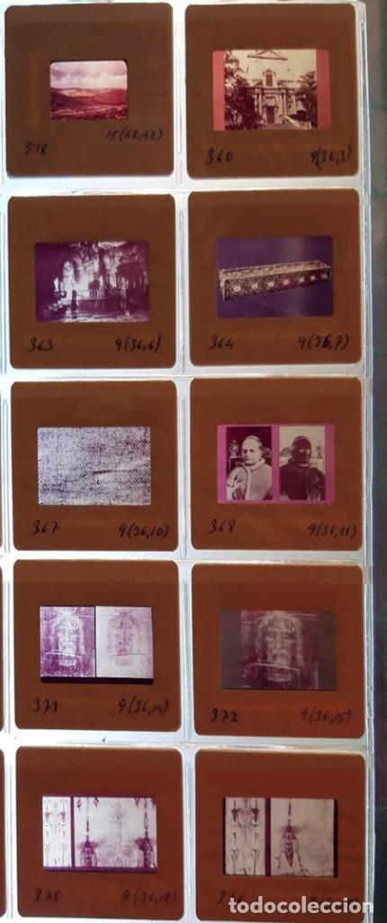 Fotografía antigua: 37 diapositivas de la Sábana Santa, años 60 - Foto 5 - 188484267