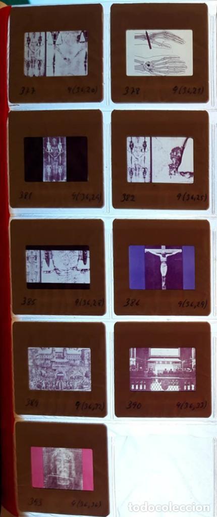 Fotografía antigua: 37 diapositivas de la Sábana Santa, años 60 - Foto 6 - 188484267