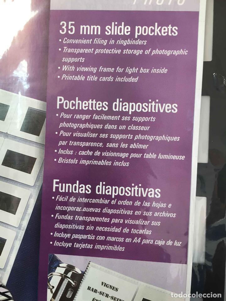 Fotografía antigua: 2 Packs de FUNDAS de DIAPOSITIVAS 35 mm. (Avery) Nuevas ¡Originales! - Foto 5 - 188736132