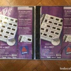 Fotografía antigua: 2 PACKS DE FUNDAS DE DIAPOSITIVAS 35 MM. (AVERY) NUEVAS ¡ORIGINALES!. Lote 188736132