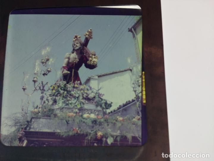 Fotografía antigua: SEMANA SANTA DE UBEDA (JAEN) COLECCION DE SEIS ANTIGUAS DIAPOSITIVAS 5X5 EN CRISTAL, MADE IN SUIZA. - Foto 3 - 194782542