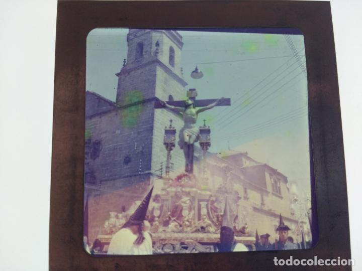 Fotografía antigua: SEMANA SANTA DE UBEDA (JAEN) COLECCION DE SEIS ANTIGUAS DIAPOSITIVAS 5X5 EN CRISTAL, MADE IN SUIZA. - Foto 4 - 194782542