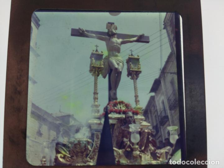 Fotografía antigua: SEMANA SANTA DE UBEDA (JAEN) COLECCION DE SEIS ANTIGUAS DIAPOSITIVAS 5X5 EN CRISTAL, MADE IN SUIZA. - Foto 5 - 194782542