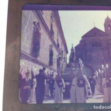 Fotografía antigua: SEMANA SANTA DE UBEDA (JAEN) COLECCION DE SEIS ANTIGUAS DIAPOSITIVAS 5X5 EN CRISTAL, MADE IN SUIZA. . Lote 194782542